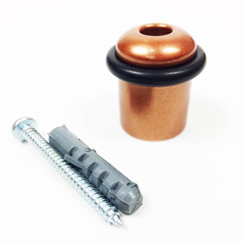 Amortecedor e Batedor de Porta Cobre Acetinado  - Puxadores para Portas