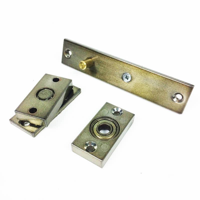 Dobradiça Pivotante c/ Rolamento para portas até 100 KG Antique Ouro Velho União Mundial   - Puxadores para Portas
