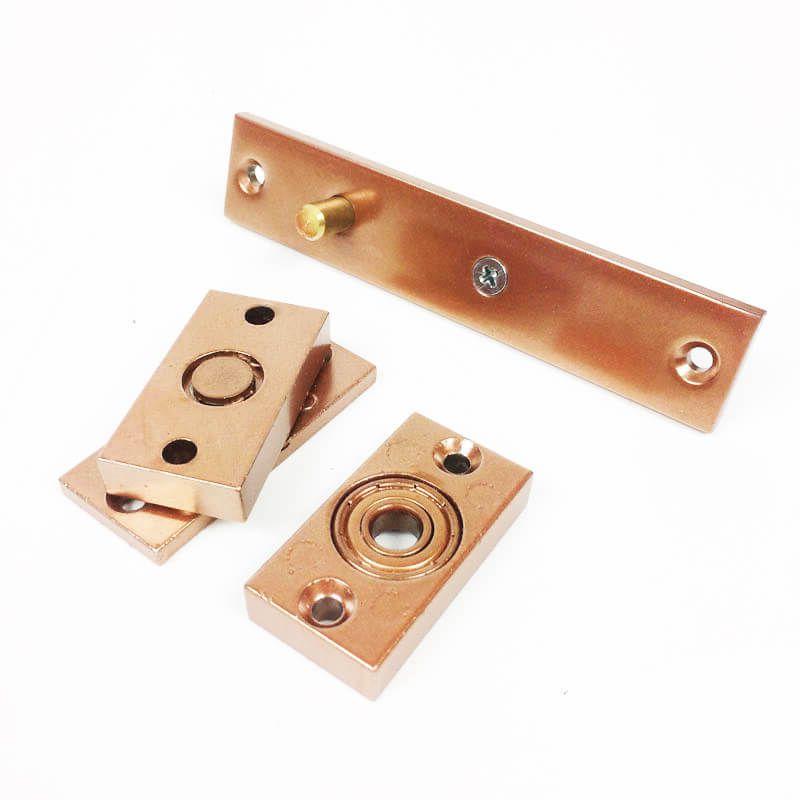 Dobradiça Pivotante c/ Rolamento para portas até 100 KG Cobre União Mundial   - Puxadores para Portas