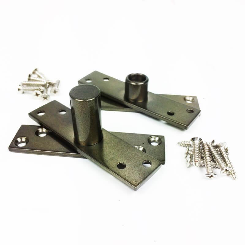 Dobradiça Pivotante para portas de até 100 kg Antique Ouro Velho Diamond  - Puxadores para Portas