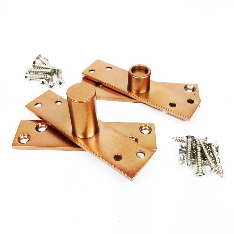 Dobradiça Pivotante para portas de até 100 kg Cobre Diamond  - Puxadores para Portas