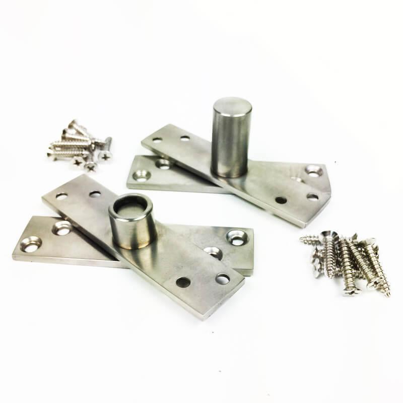 Dobradiça Pivotante para portas de até 100 kg Escovado Diamond  - Puxadores para Portas