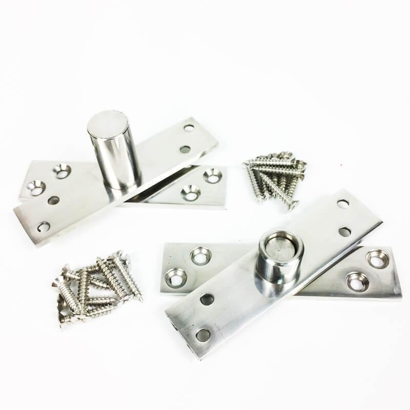 Dobradiça Pivotante para portas de até 100 kg Polido Diamond  - Puxadores para Portas
