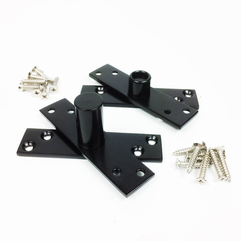 Dobradiça Pivotante para portas de até 100 kg Preto Diamond  - Puxadores para Portas