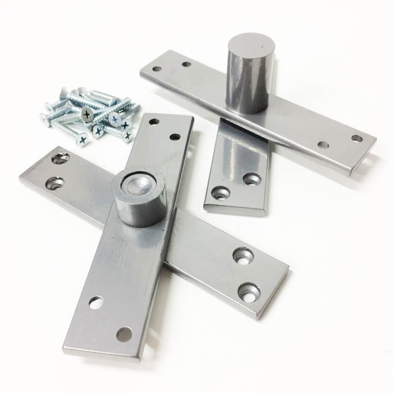 Dobradiça Pivotante para portas de até 350 kg Metálica Prata Piance  - Puxadores para Portas