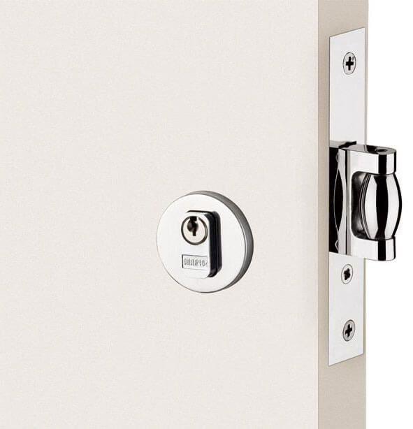 Fechadura Soprano Trinco Rolete Pivotante Redonda Polido Brilhante 65 mm  - Puxadores para Portas