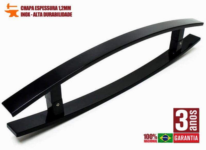 Puxador de Porta Tubular Curvo Inox - Lugui - Preto  - Puxadores para Portas