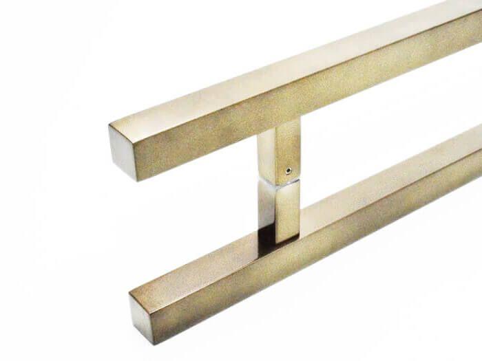 Puxador de Porta Tubular Reto Inox - Aristocrata - Antique Ouro Velho  - Puxadores para Portas
