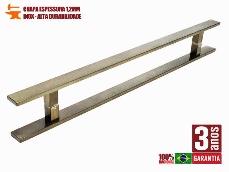 Puxador de Porta Tubular Reto Inox - Clean  - Antique Ouro Velho  - Puxadores para Portas