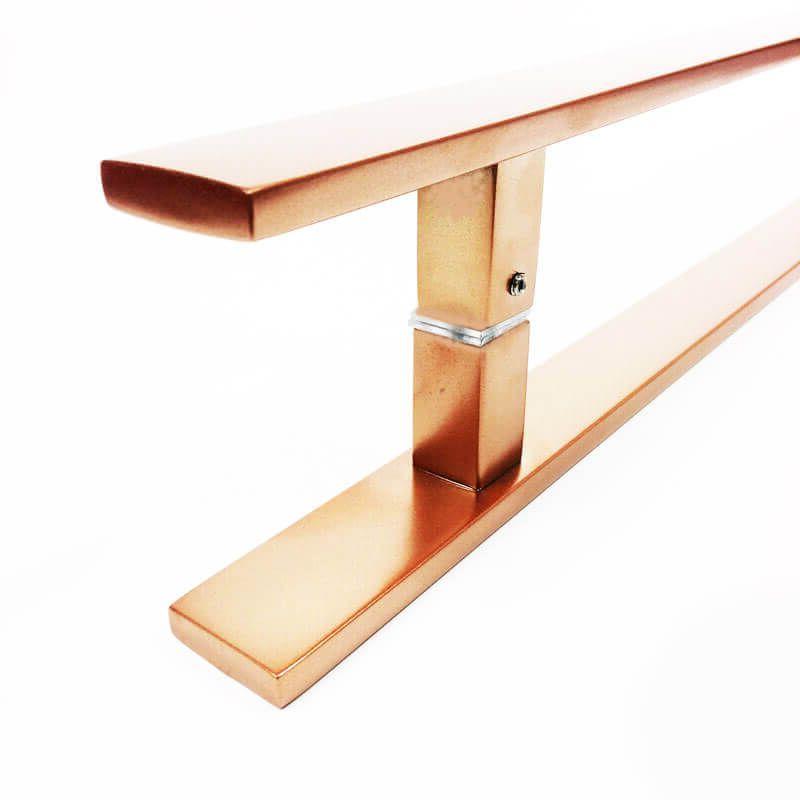 Puxador de Porta Tubular Reto Inox - Clean  - Cobre Acetinado  - Puxadores para Portas