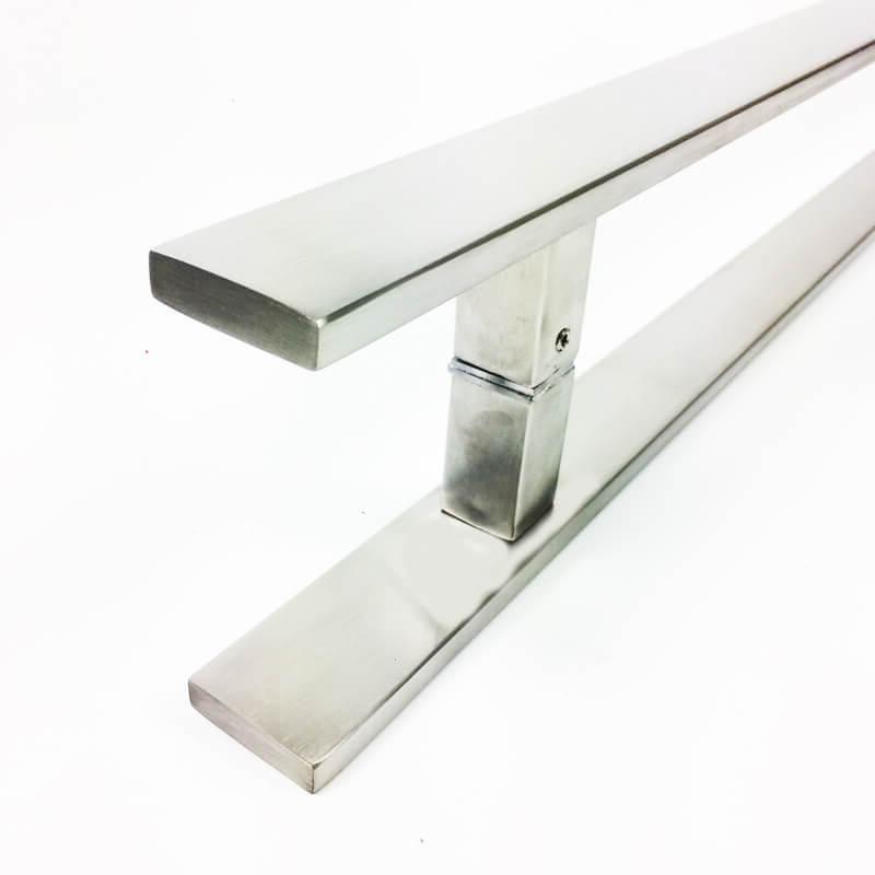 Puxador de Porta Tubular Reto Inox - Clean  - Escovado  - Puxadores para Portas