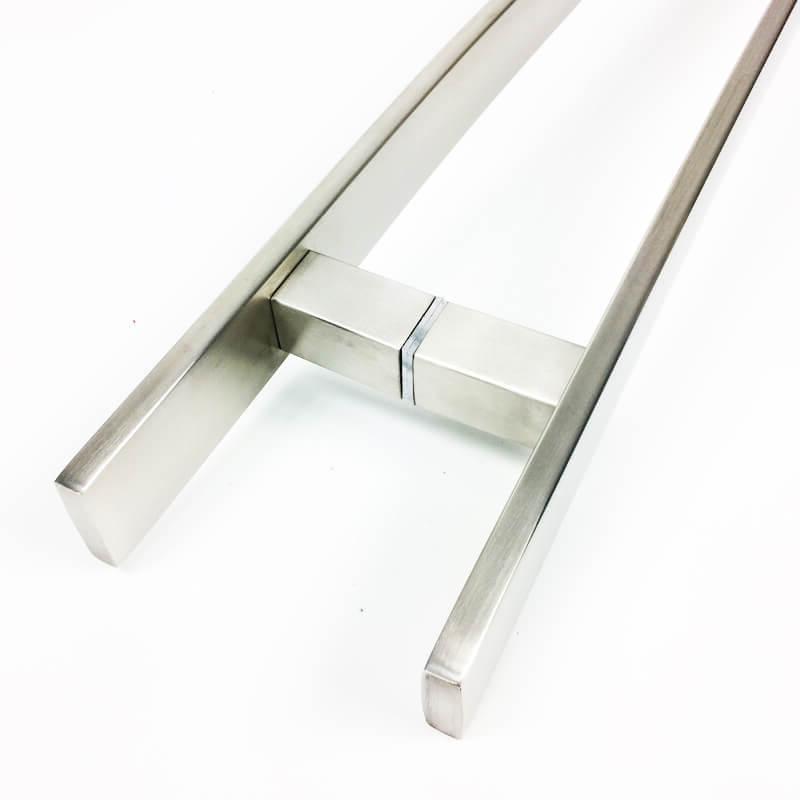 Puxador para Porta Tubular Curvo Inox - Novitá - Escovado  - Puxadores para Portas