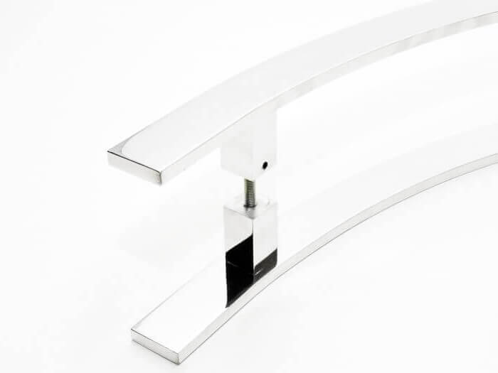 Puxador para Porta Tubular Curvo Inox - Novitá - Polido  - Puxadores para Portas