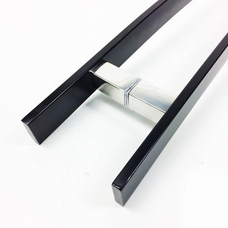 Puxador para Porta Tubular Curvo Inox - Novitá - Preto  - Puxadores para Portas