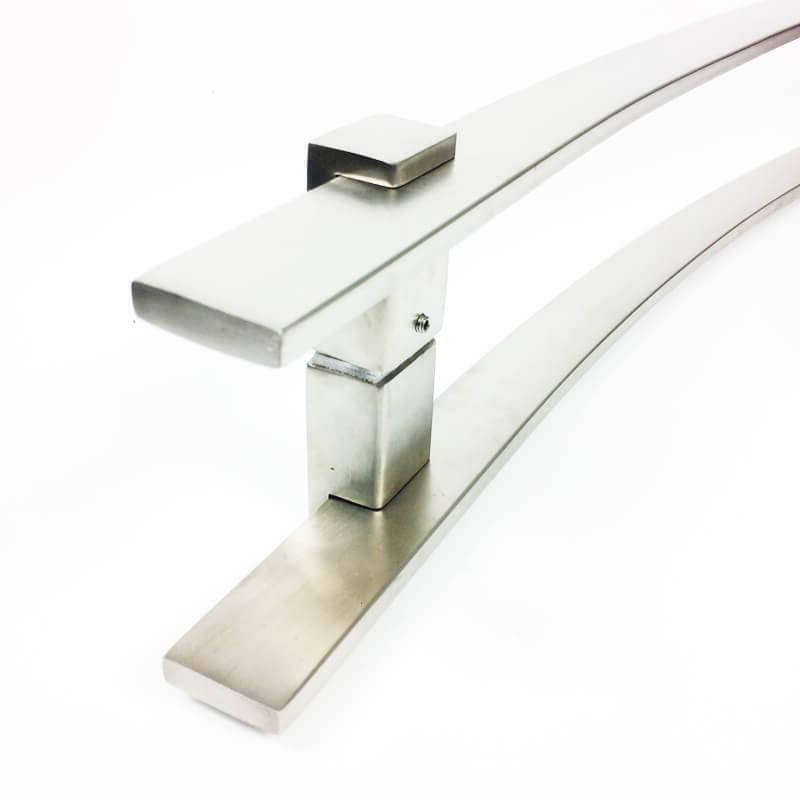 Puxador para Porta Tubular Curvo Inox - Paola - Escovado  - Puxadores para Portas