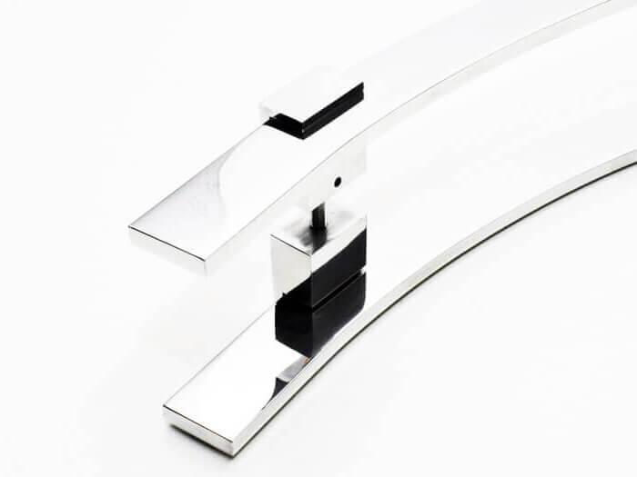 Puxador para Porta Tubular Curvo Inox - Paola - Polido  - Puxadores para Portas