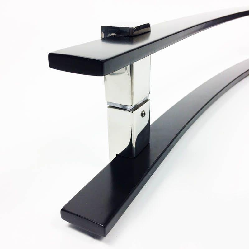 Puxador para Porta Tubular Curvo Inox - Paola - Preto  - Puxadores para Portas