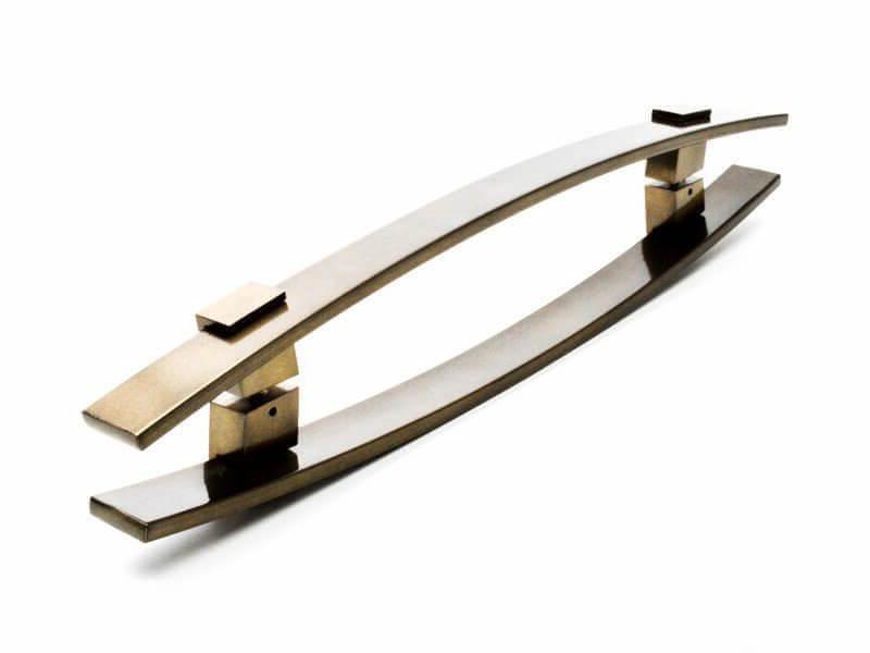 Puxador para Porta Tubular Reto Inox - Alba - Antique Ouro Velho  - Puxadores para Portas