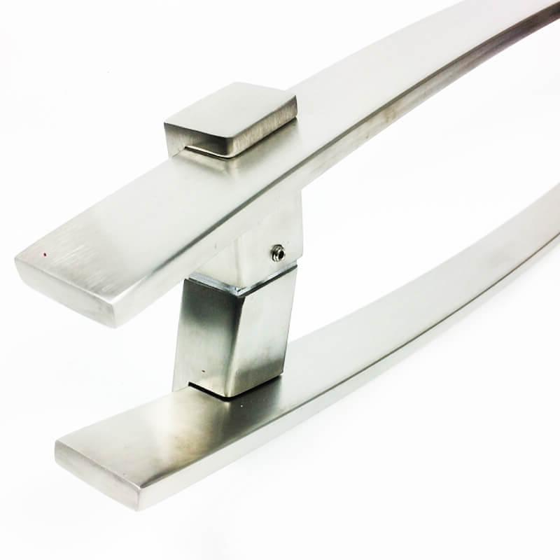 Puxador para Porta Tubular Reto Inox - Alba - Escovado  - Puxadores para Portas