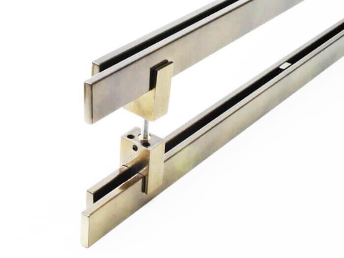 Puxador para Porta Tubular Reto Inox - Aquarius  - Antique Ouro Velho  - Puxadores para Portas
