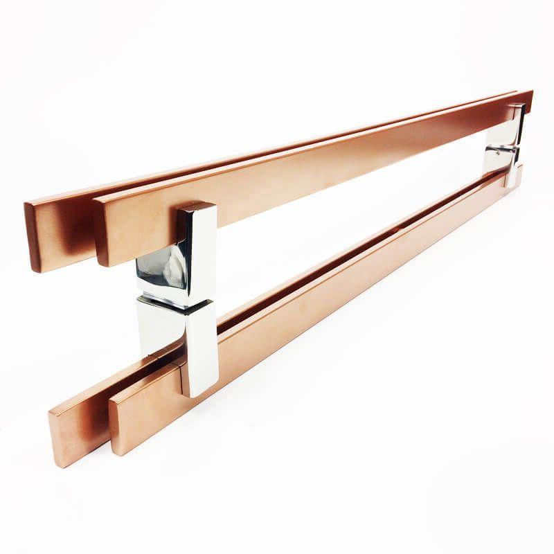 Puxador para Porta Tubular Reto Inox - Aquarius  - Cobre Acetinado  - Puxadores para Portas