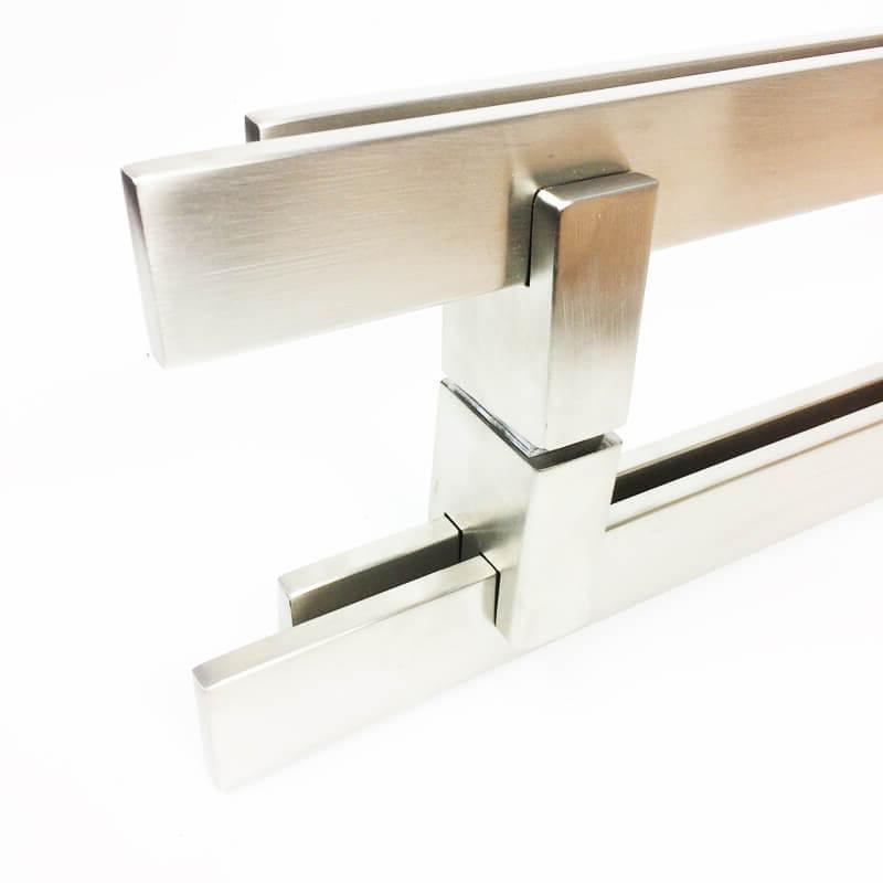 Puxador para Porta Tubular Reto Inox - Aquarius  - Escovado  - Puxadores para Portas