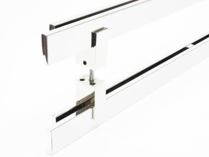 Puxador para Porta Tubular Reto Inox - Aquarius  - Polido  - Puxadores para Portas