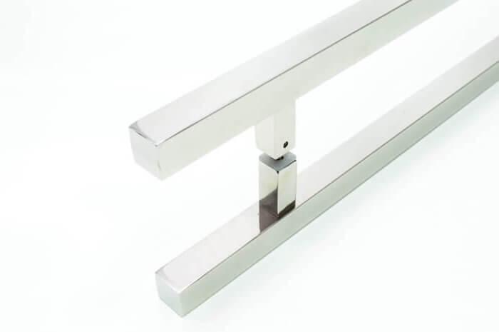 Puxador para Porta Tubular Reto Inox - Aristocrata - Polido  - Puxadores para Portas