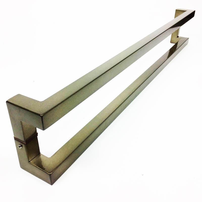 Puxador para Porta Tubular Reto Inox - Athenas - Antique Ouro Velho  - Puxadores para Portas