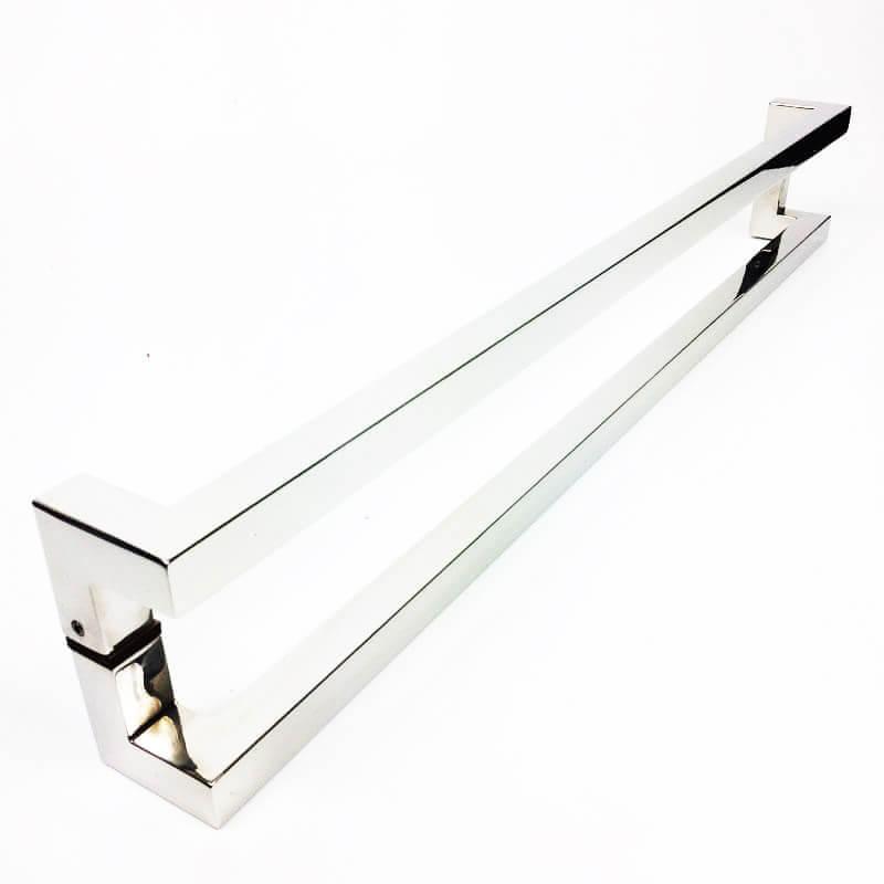 Puxador para Porta Tubular Reto Inox - Athenas - Polido  - Puxadores para Portas