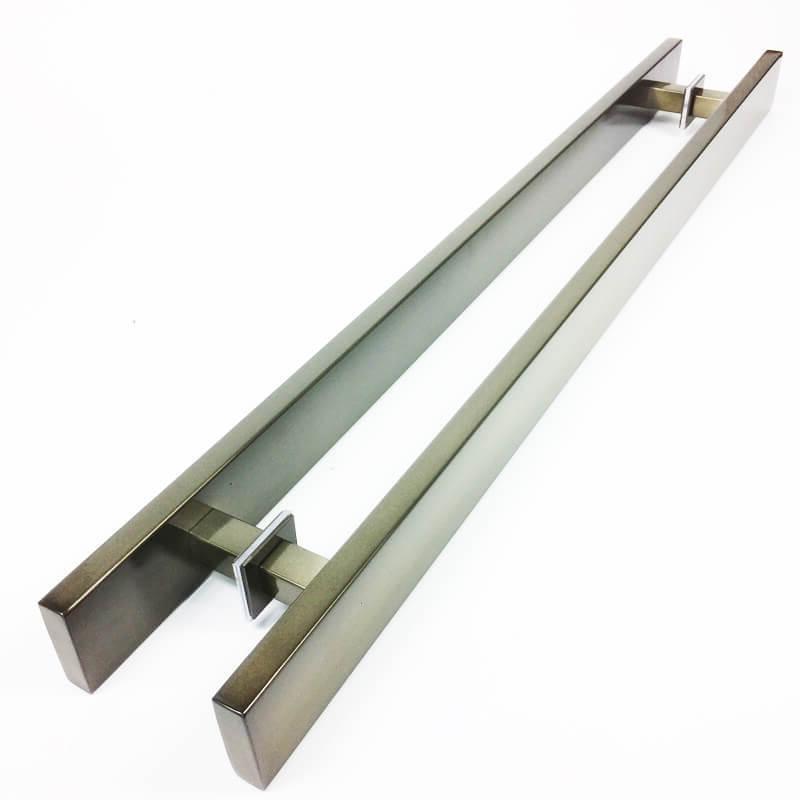 Puxador para Porta Tubular Reto Inox - Grand Clean - Antique Ouro Velho  - Puxadores para Portas