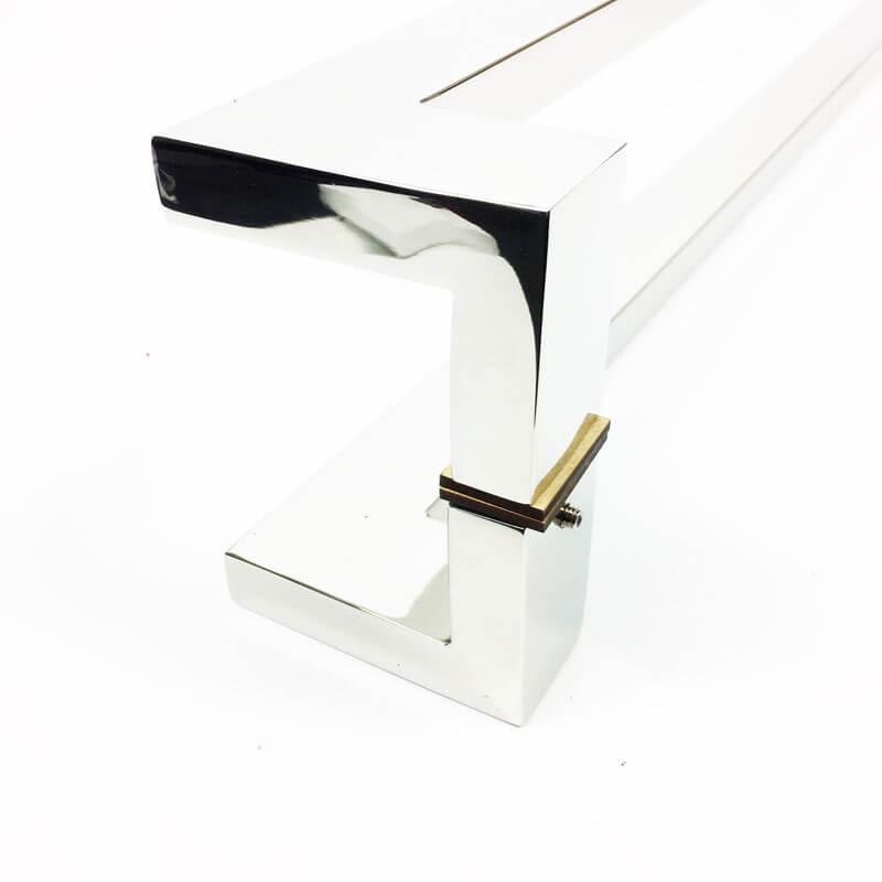 Puxador para Porta Tubular Reto Inox - Grécia - Polido  - Puxadores para Portas