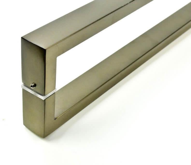 Puxador para Porta Tubular Reto Inox - Greco  - Antique Ouro Velho  - Puxadores para Portas