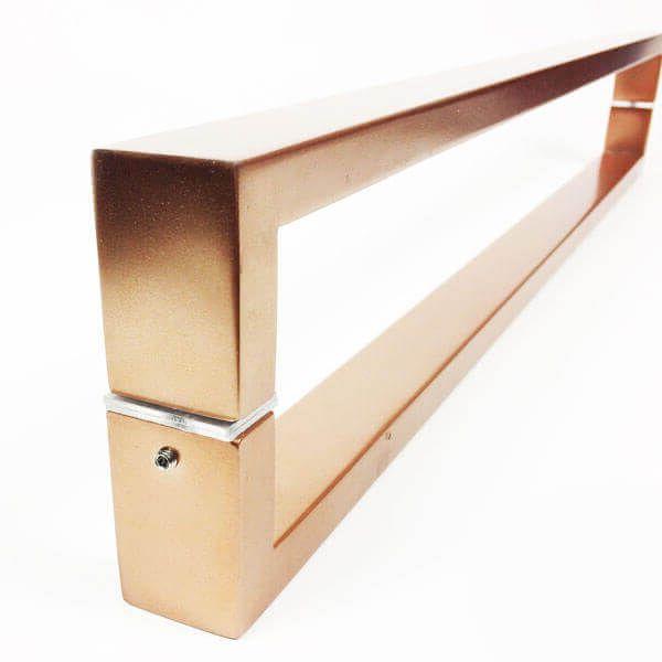 Puxador para Porta Tubular Reto Inox - Greco  - Cobre Acetinado  - Puxadores para Portas