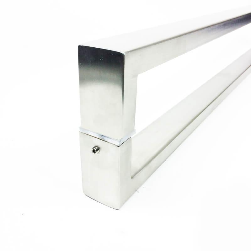 Puxador para Porta Tubular Reto Inox - Greco  - Escovado  - Puxadores para Portas