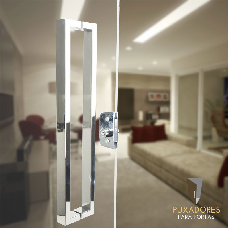 Puxador para Porta Tubular Reto Inox - Greco - Polido  - Puxadores para Portas