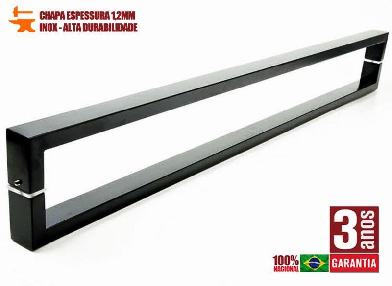 Puxador para Porta Tubular Reto Inox - Greco  - Preto  - Puxadores para Portas