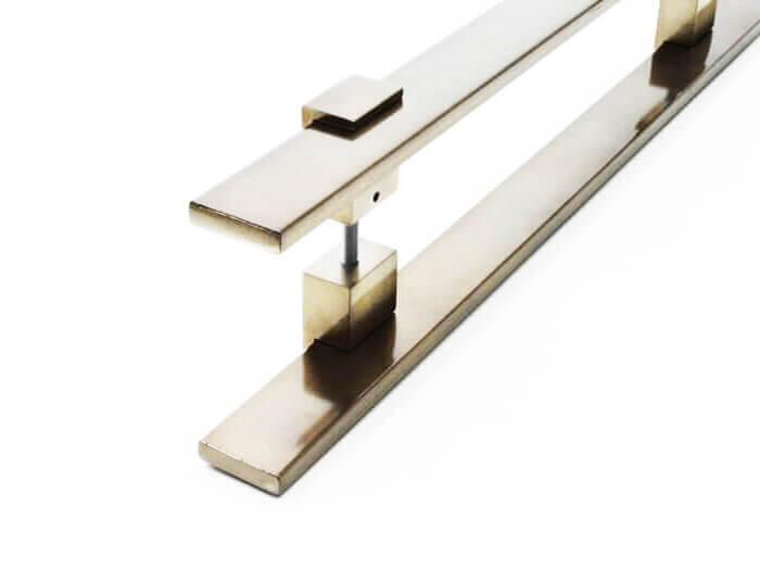 Puxador para Porta Tubular Reto Inox - Luma - Antique Ouro Velho  - Puxadores para Portas