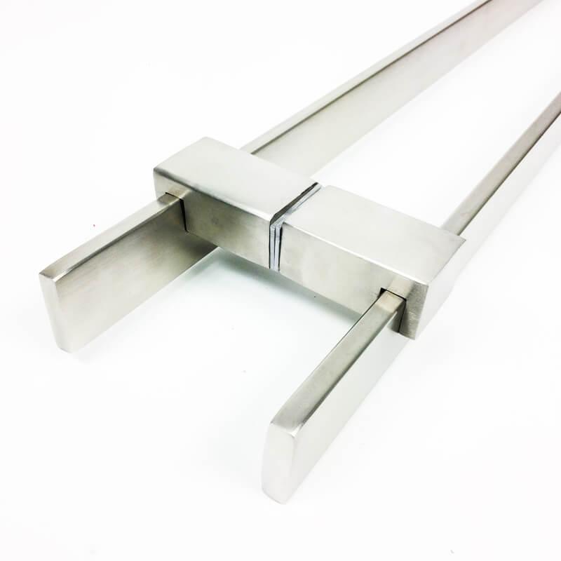 Puxador para Porta Tubular Reto Inox - Luma - Escovado  - Puxadores para Portas