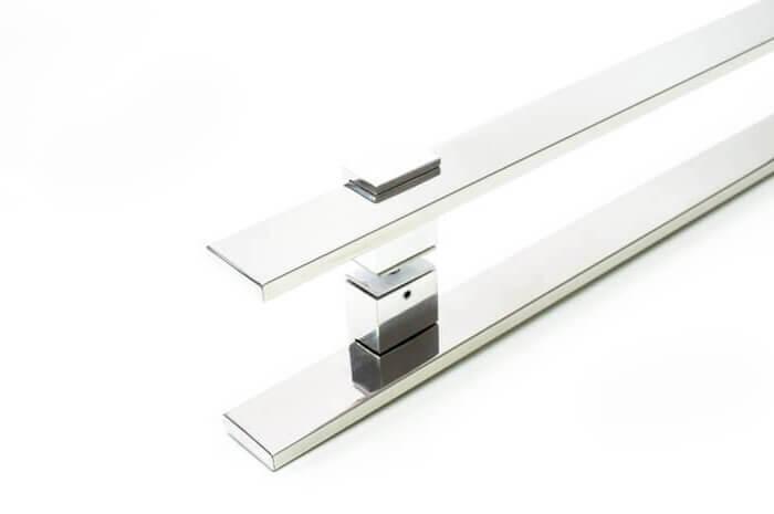 Puxador para Porta Tubular Reto Inox - Luma - Polido  - Puxadores para Portas