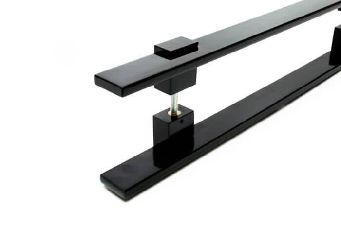Puxador para Porta Tubular Reto Inox - Luma - Preto  - Puxadores para Portas