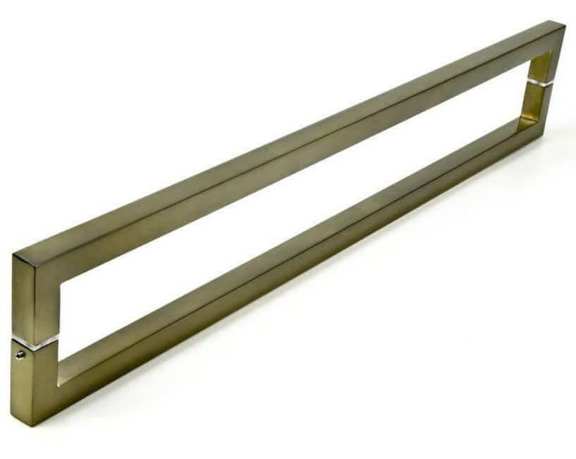 PUXADOR PARA PORTAS DUPLO AÇO INOX 304 ANTIQUE OURO VELHO (SLIN)  - Puxadores para Portas