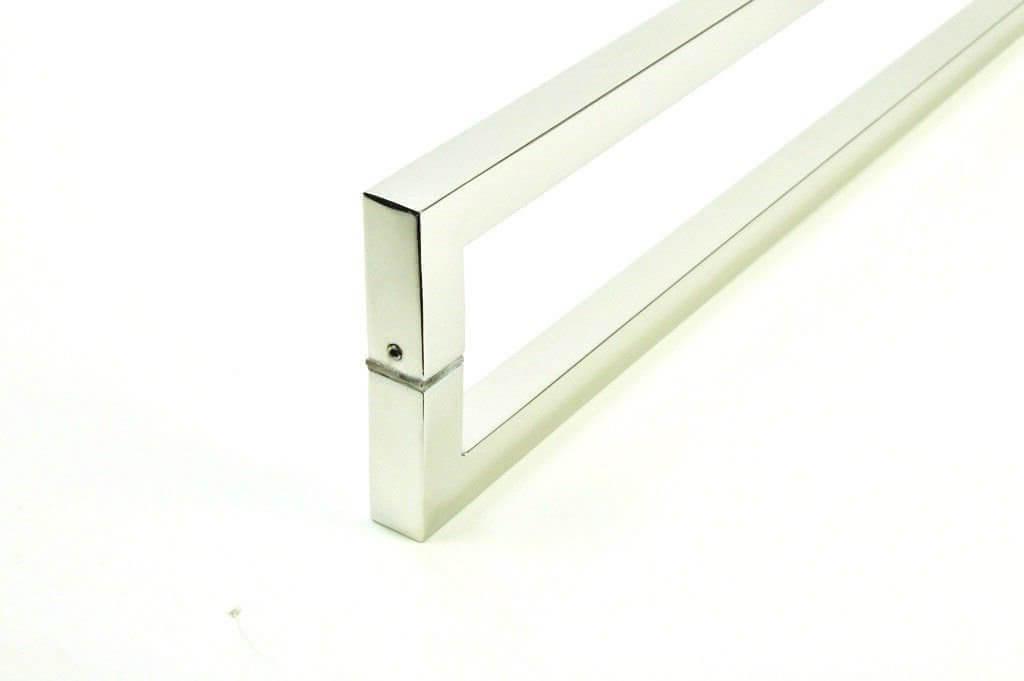 PUXADOR PARA PORTAS DUPLO AÇO INOX 304 POLIDO (SLIN)  - Puxadores para Portas