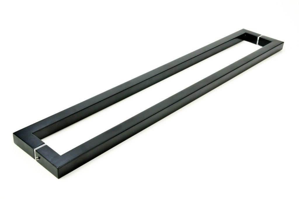 PUXADOR PARA PORTAS DUPLO AÇO INOX 304 PRETO (SLIN)  - Puxadores para Portas