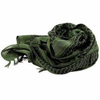 Shemagh Lenço Arabe Keffiyeh Tático Militar Verde Original