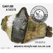Máscara Proteção Tecido Atacs FG Airsoft Paintball Camuflada