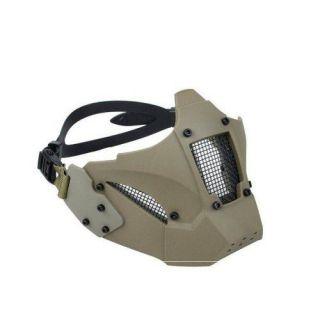Mascara Airsoft Feasso Fja-126 Jay-fast Tan Com Adaptador