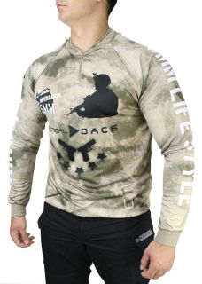 CAMISETA AIRSOFT LONGA ATACS AU - TACTICAL DACS