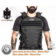 Colete Tático Militar Fenrir Suspensorio Peacemaker Cordura 500 - Preto