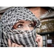 Hijab Shemagh Tactical Desert Arabic BRANCO E PRETO